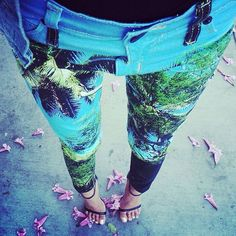 Forest Print Skinny Jeans