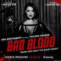 Pretty Little Liars Bad Blood Taylor Swift Aria. Why does her head look photoshopped? Or her neck. Pretty Little Liars, Tom Kaulitz, Jelsa, Kendall Jenner, Freelee The Banana Girl, Punziella, Naruto Run, Bad Blood, Hollywood