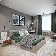 ▪️Design and Visualization: Katerina Rulinskaya… Bedroom Furniture Design, Home Room Design, Room Design, Apartment Interior, Living Room Decor Apartment, Luxurious Bedrooms, Bedroom Inspirations, Modern Bedroom, Luxury Bedroom Master