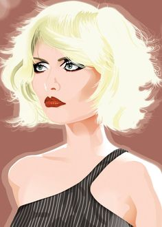 Displate Poster Create a portrait of Deborah Harry debbie Debbie Harry Hair, Blondie Debbie Harry, Choppy Bob Haircuts, Bob Hairstyles, Art Deco Paintings, Pepper Ann, Pat Benatar, Vintage Concert Posters, Tech Gadgets