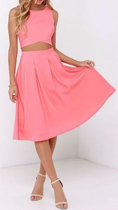 Coral Two-Piece Dress,MB 32