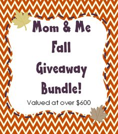 Mom & Me Fall Giveaway - Giving away a Blackberry Q10 and more awesome prizes