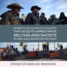 Unarmed Peaceful Water Protectors. Stand With Standing Rock! #NoDAPL