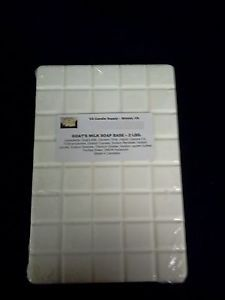 2 LBS GOATS MILK MELT AND POUR SOAP BASE  SOAP MAKING SUPPLIES