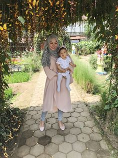 Hijab style   cute baby girl