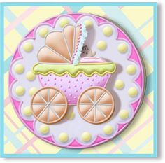Decorated Cookies Gift   Baby Buggy Hand Decorated Sugar Cookie Gift Favor