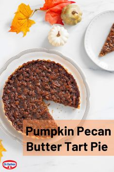 This Thanksgiving mash-up combines pumpkin pie, pecan pie and butter tarts all in one tasty dessert. Hands On: 15 minutes Total Time: 1 hour 15 minutes Makes: 8 servings No Bake Treats, Yummy Treats, Delicious Desserts, Sweet Treats, Yummy Food, Baking Recipes, Cake Recipes, Dessert Recipes, Butter Tarts