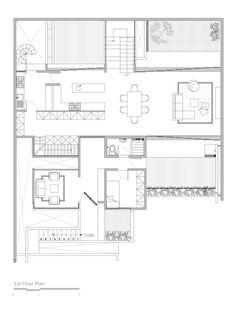 Lumber Shaped-Box House,First Floor Plan