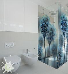 Nadruk przezierny na kabinie prysznicowej www.lemonroom.pl
