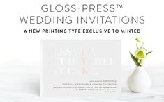 Gloss-Press Wedding Invitations™   Minted Types Of Printing, Wedding Invitation Design, Stationery Design, Mint, Inspiration, Biblical Inspiration, Wedding Invitation, Stationary Design, Peppermint