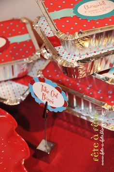 Take Out Boxes: Gabriel's 4th birthday party - Soda Shop & Diner fun!