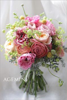 ラナンキュラスのブーケ。 |Spring  wedding bouquet|AGEMINI