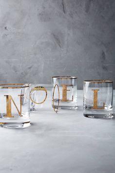Shop the Gilded Monogram DOF Glass from Anthropologie #shopstyle #affiliatelink