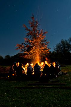 Camping with Friends...the bigger the circle around the fire the BETTER!!