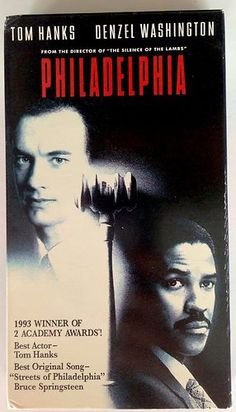 Philadelphia - Tom Hanks - Danzel Washington (VHS, 1994, Closed Captioned)