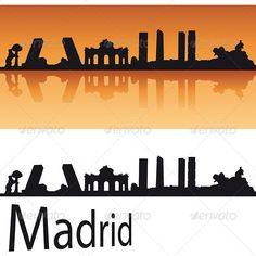 Madrid Skyline in Orange #GraphicRiver Madrid Skyline in orange background in editable vector file Created: 17May13 GraphicsFilesIncluded: LayeredPNG #JPGImage #VectorEPS Layered: Yes MinimumAdobeCSVersion: CS Tags: Madrid