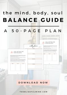 The Ultimate Self-Care Guide: The Mind, Body, Soul Balance Guide. 50 pages of prompts, exercises, and reflections to help you get back into balance! Learn more >>