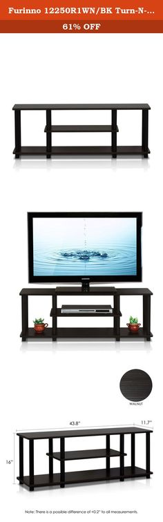 Furinno 12250R1WN/BK Turn-N-Tube No Tools 3D 3-Tier Entertainment TV Stands, Walnut. Furinno turn-n-tube series: no tools entertainment TV stand.(1) Unique structure: open display rack, shelves provide easy storage and display of TV or other audio/video accessories. Suitable for any rooms. Designed to meet the demand of low cost but durable and efficient furniture. It is proven to be the most popular RTA furniture due to its functionality, price and the no hassle assembly. (2) smart…