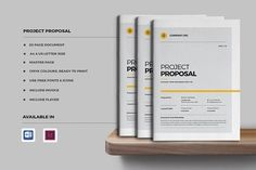 Project Proposal by Occy Design on @creativemarket #proposal #brochure #stationery #books #presentation #digitalmarketing #portfolio #webdesign #journal