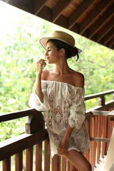 Off the shoulder summer lace dress