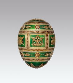 """Maker: House of Carl Fabergé. Imperial Napoleonic Egg, 1912. The Metropolitan Museum of Art, New York (L.2011.66.57a–c) 