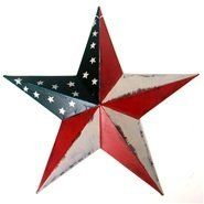 """Barn Star - 24"""" Dimensional Metal Distressed Americana Flag - Primitive Country Rustic by CW, http://www.amazon.com/dp/B0086J34IM/ref=cm_sw_r_pi_dp_Y5CWrb0WV6NHF  I am Kristen's Collections!!"""