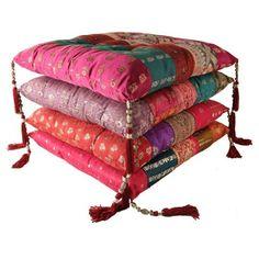 Galette de chaise poules rouge clayre eef coussins et galette de chai - Galettes chaises ikea ...