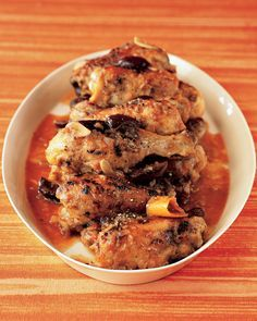 Mediterranean Chicken Legs | Martha Stewart Living - Dark chicken meat is ideal for stews; it becomes more tender the longer and slower it cooks.