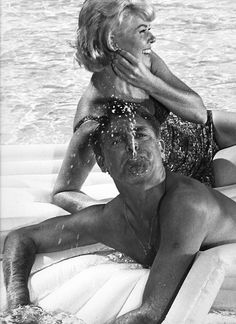 Cary Grant, Doris Day; during production of Delbert Mann's That Touch of Mink (1962)