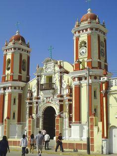 The Santa Lucia church in Ferrenafe, Peru. La Iglesia Santa Lucia, Ferreñafe, Peru