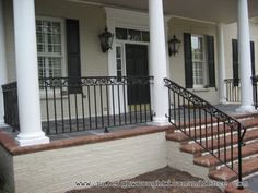 Front Porch With Wrought Iron Railings   Google Search