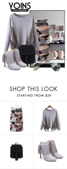 """""""YOINS Suede Tassel Sweater"""" by teez-biz-nez ❤ liked on Polyvore featuring women's clothing, women's fashion, women, female, woman, misses, juniors and yoins"""