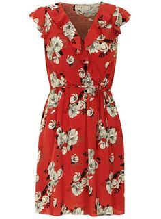 Billie & Blossom Red spot ruffle dress - Casual Dresses  - Dresses