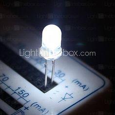 5mm blanc diode électroluminescente lampes led (50 pièces par paquet) de 2016 à $5.55