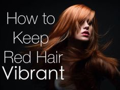 How To Keep #RedHair Looking Vibrant and Shiny: http://howtobearedhead.com/how-to-keep-red-hair-looking-vibrant-and-shiny/
