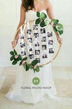 Decorated hoop photo display