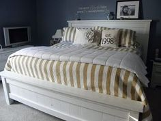 """DIY:: """"Our Inexpensive Farmhouse Bed"""" (Great & Amazingly Cheap tips & Full Tutorial)"""