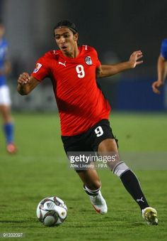 Mohamed Talaat of Egypt in action during the FIFA U20 World Cup Group A match between Italy and Egypt at the Cairo International Stadium on October 1...