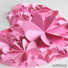 Delightful DIY Paper Flower Wall Art - Free Guide and Templates Valentine Decorations, Valentine Crafts, Valentines, Large Paper Flowers, Paper Flower Wall, Diy And Crafts, Crafts For Kids, Altered Canvas, Origami