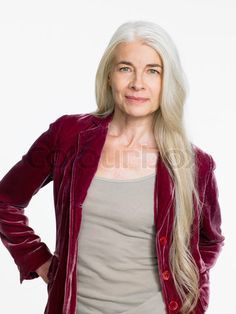 I used to think gray hair looked unkempt long but I think her hair looks very chic. One day when I am older :)
