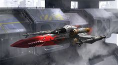 Cleared for Launch - artist unknown - Star Wars X-Wing Fighter with vintage/retro paint job