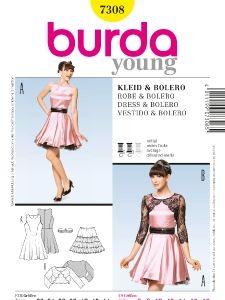 burda style: Young - Kleider & Tuniken - Retro-Kleid - Bolero