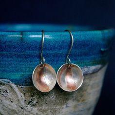 Silver Cup Dangle Earrings £12.50
