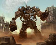 Steampunk Golem by ~Sycra