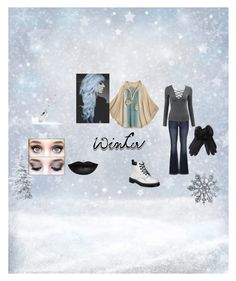"""Winter wonderland"" by dark-15-ivy on Polyvore featuring Calypso St. Barth, maurices, Dr. Martens, Giorgio Armani and Anastasia Beverly Hills"