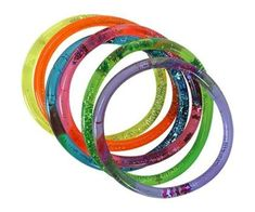 Glitter Bangles! Wow this was the latest fashion accessory back in the 80's