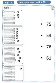 Associer une quantité à un nombre                                                                                                                                                      Plus