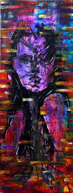 """Jakub DK - Watchwomen  De """"Watchwomen"""" is acryl abstracte schilderij kunst op diepe doek.Ik schilderen vele lagen beste diepe kracht op de foto te laten. Het belangrijkste thema van het kunstwerk is vrouwelijke portretten reminiscentie een van de beroemde strips karakter - Watchmen.Dit is een een van een soort kunstwerk gemaakt en geschilderd door mij.Grote moderne schilderijen met abstracte gemengde kleuren.Zeer trendy en zeer geschikt voor moderne huisinrichting.Perfect decoratief voor uw…"""