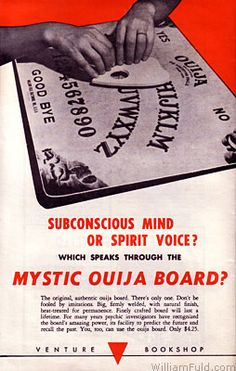 Ouija Advertisement, 1960s