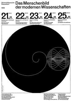 Walter Breker, science exhibition poster, 1966 Das Menschenbild der modernen Wissenschaften Universitätswoche Düsseldorf